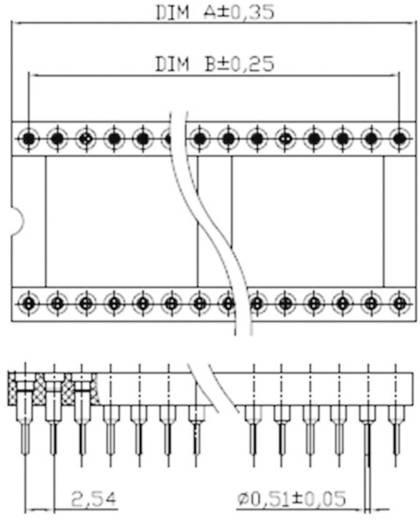 IC-Fassung Rastermaß: 7.62 mm Polzahl: 10 ASSMANN WSW AR 10 HZL-TT Präzisions-Kontakte 1 St.