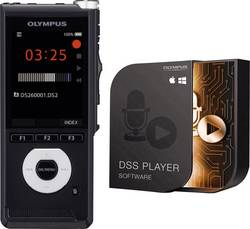 Image of Olympus DS-2600 Digitales Diktiergerät Aufzeichnungsdauer (max.) 56 h Schwarz inkl. 2 GB SD-Karte, inkl.