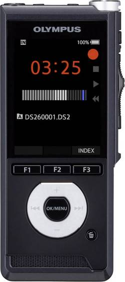 Image of Olympus DS-2600 Text to Speech Edition Digitales Diktiergerät Aufzeichnungsdauer (max.) 56 h Schwarz inkl. 2 GB
