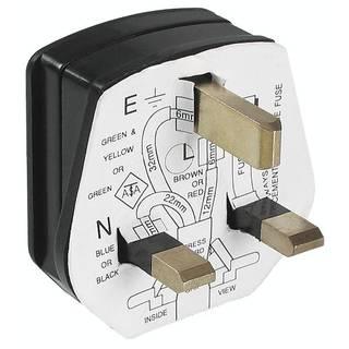 französischer Schutzkontakt-Stecker, Typ E mit flachen Leitern