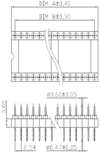 Adapter-IC-Fassung Rastermaß: 15.24 mm Polzahl: 24 ASSMANN WSW AR 24-ST/T 1 St.