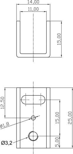 U-Kühlkörper 20 K/W (L x B x H) 25 x 14 x 15 mm TO-220 ASSMANN WSW V5074C-T