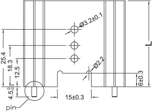 Strangkühlkörper 8.2 K/W (L x B x H) 25.4 x 45 x 11.94 mm TO-220, TOP-3, SOT-32 ASSMANN WSW V7466W