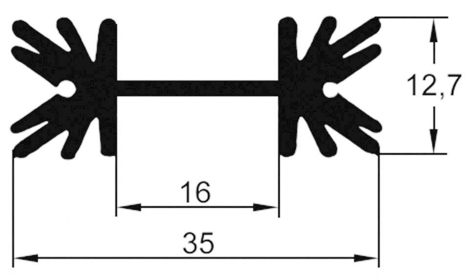 Assmann WSW V7477Y Strangkühlkörper 9 K//W 50.8 x 35 x 12.7mm TO-220, L x B x H