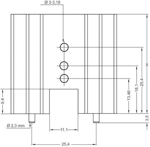 Strangkühlkörper 5 K/W (L x B x H) 38.1 x 41.6 x 25 mm TO-220, TOP-3, SOT-32 ASSMANN WSW V8511X