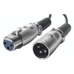 XLR audio prepojovací kábel Bachmann 918.014, 5.00 m, čierna