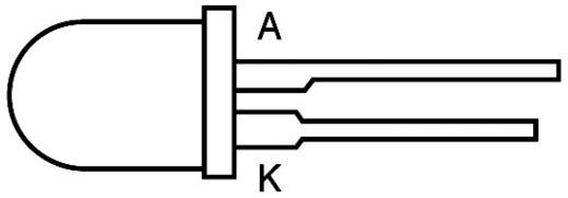 LED bedrahtet Blau Rund 3 mm 90 mcd 20 ° 20 mA 4.5 V WU-1-30BC