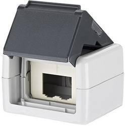 Sieťová zásuvka na omietku Metz Connect 1309430003-E, neopatrené špecifikáciou, 2 porty
