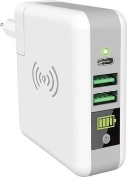 Bezdrátová indukční powerbanka Smrter SMRTER_AMIGO, Qi standard, USB, USB-C™ zásuvka, bílá