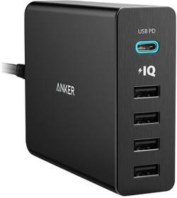 Image of Anker PowerPort+ 5 Premium A2053311 USB-Ladestation Steckdose Ausgangsstrom (max.) 9000 mA 5 x USB, USB-C™ Buchse USB