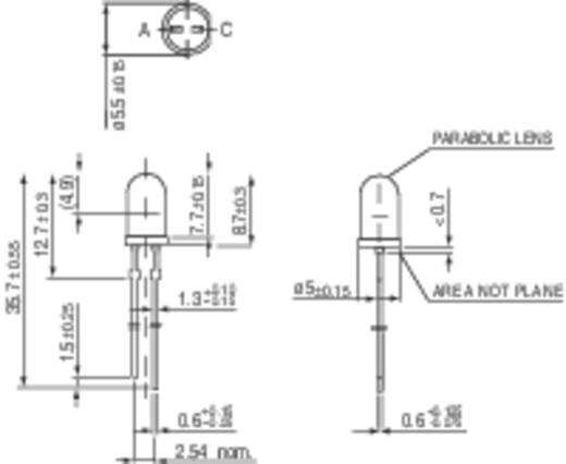 LED bedrahtet Rot Rund 5 mm 5500 mcd 4 ° 20 mA 1.9 V Vishay TLHK 5800