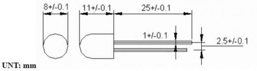 LED bedrahtet Gelb-Orange Rund 8 mm 360 ° 60 mA 1.9 V