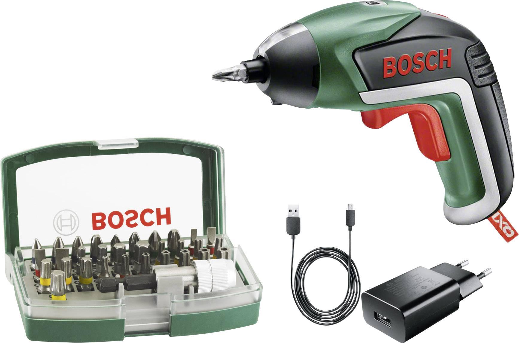 Bosch Home and Garden IXO V Akku Schrauber 3.6 V 1.5 Ah Li Ion inkl. Akku, inkl. Zubehör