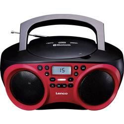 FM rádio s CD prehrávačom Lenco SCD-501, AUX, Bluetooth, CD, UKW, USB, červená, čierna