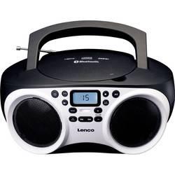 FM rádio s CD prehrávačom Lenco SCD-501, AUX, Bluetooth, CD, UKW, USB, biela, čierna
