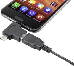 Adaptér USB 3.1 (Gen 1) Renkforce [1x USB-C™ zástrčka, micro USB 2.0 zástrčka B - 1x ] černá s funkcí OTG, pozlacené kontakty