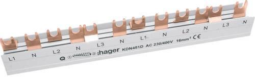Hager Phasenschiene 4polig Gabel 10mm² 63A 12M