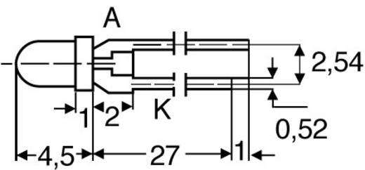LED bedrahtet Rot Rund 3 mm 3 mcd 45 ° 20 mA 2.25 V Vossloh Schwabe RTL 934 HD