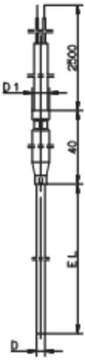 Thermoelement Fühler-Typ K Messbereich Temperatur-200 bis 1200 °C Kabellänge (Details) 2.5 m Fühlerbreite 1.5 mm Jumo