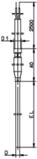 Thermoelement Fühler-Typ K Messbereich Temperatur-200 bis 1200 °C Kabellänge (Details) 2.5 m Fühlerbreite 3 mm Jumo