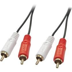 Cinch audio prepojovací kábel LINDY 35664, 10.00 m, čierna