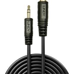 Jack audio predlžovací kábel LINDY 35654, 5.00 m, čierna