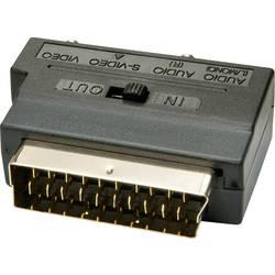 SCART adaptér LINDY 35628, čierna