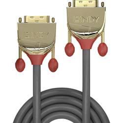 DVI prepojovací kábel LINDY 36203, 3.00 m, sivá