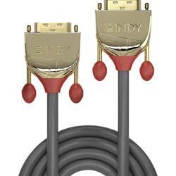 DVI prepojovací kábel LINDY 36204, 5.00 m, sivá