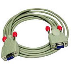 Sériový prepojovací kábel LINDY [1x D-SUB zásuvka 9-pólová - 1x D-SUB zásuvka 9-pólová], 10.00 m, biela