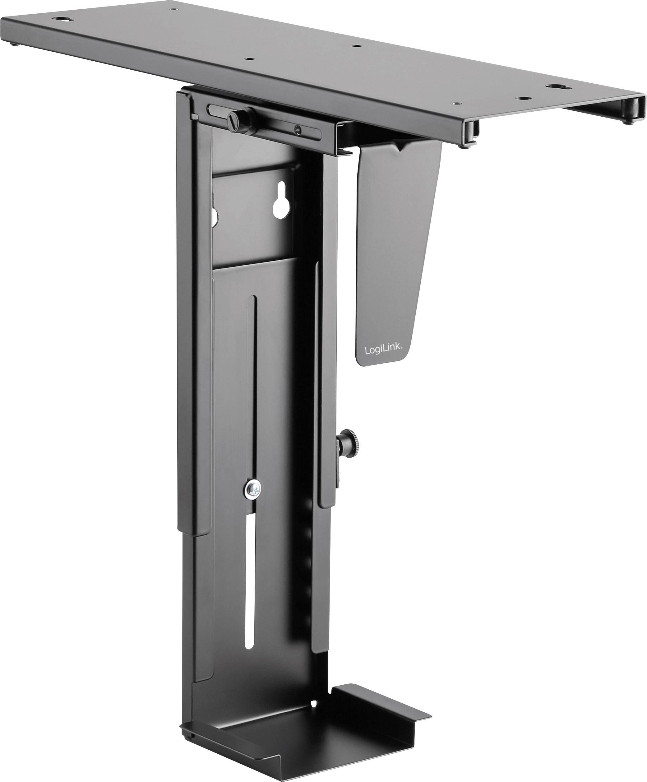LogiLink PC Halterung Untertisch EO0004 Schwarz Belastbar bis Gewicht=10 kg