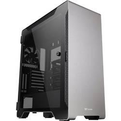 PC skrinka midi tower Thermaltake A500 Tempered Glass, strieborná, čierna