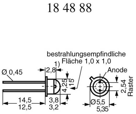 IR-Emitter 950 nm 40 ° TO-18 radial bedrahtet OSRAM LD 242-2/3