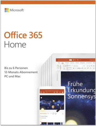 microsoft office 365 home vollversion 6 lizenzen windows. Black Bedroom Furniture Sets. Home Design Ideas