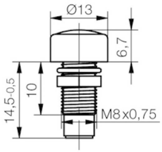 LED-Fassung Metall Passend für LED 5 mm Schraubbefestigung Signal Construct SML1089