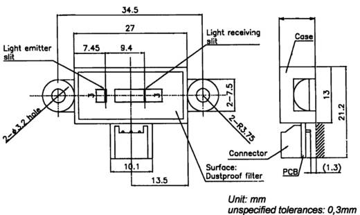 Distanz-Mess-Sensor Präzisionstyp GP2Y0AH01K0F