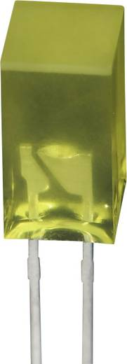 LED bedrahtet Gelb Quadratisch 5 x 5 mm 5 mcd 110 ° 20 mA 2.1 V Kingbright SE6831