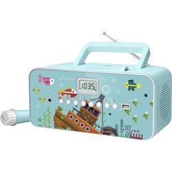 Dětský CD přehrávač Muse M29KB CD, FM, USB včetně mikrofonu, tyrkysová