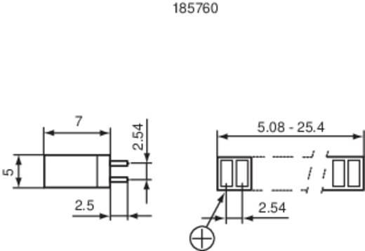 LED-Reihe 8fach Rot (L x B x H) 20 x 7 x 4 mm Signal Construct ZAQS 0807