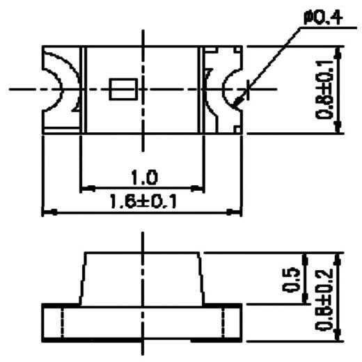 SMD-LED 0603 Golden White 300 mcd 120 ° 20 mA 3.2 V Yoldal UBSM0603WG