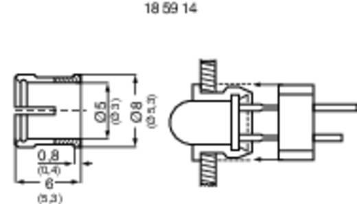 LED-Fassung Kunststoff Passend für LED 3 mm SnapIn RTC-32-VE100 CLIP + RING ZU 100 STUECK