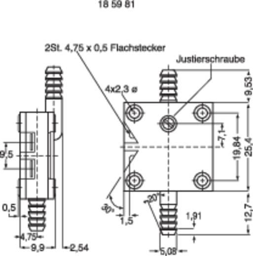 Drucksensor 1 St. Delta MPL-503 RANGE C 5 mbar bis 33 mbar 1 Schließer (L x B x H) 25 x 25 x 10 mm