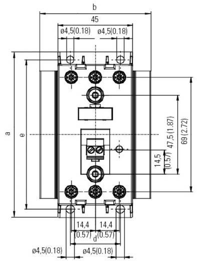 Halbleiterschütz 1 St. 3RF2410-1AC45 Siemens Laststrom: 10 A Schaltspannung (max.): 600 V/AC