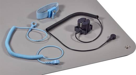 ESD-Tischmatten-Set Platin-Grau (L x B) 900 mm x 610 mm Wolfgang Warmbier 1400.663.C inkl. Erdungskabel, inkl. Erdungsstecker, inkl. Erdungsarmband, inkl. Verbindungsleitung