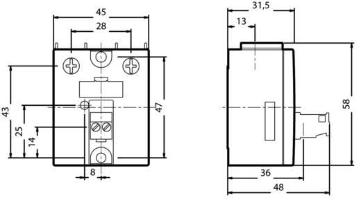 Halbleiterrelais 1 St. Siemens 3RF2050-1AA45 Last-Strom (max.): 50 A Schaltspannung (max.): 600 V/AC