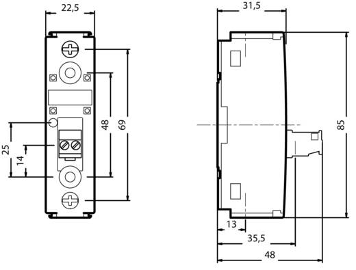 Halbleiterrelais 1 St. Siemens 3RF2130-1AA22 Last-Strom (max.): 30 A Schaltspannung (max.): 230 V/AC