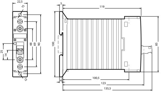 Halbleiterschütz 1 St. 3RF2350-1AA04 Siemens Laststrom: 50 A Schaltspannung (max.): 600 V/AC