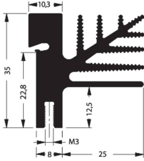 Strangkühlkörper 3.25 K/W (L x B x H) 100 x 33 x 35 mm TO-218, TO-220, TO-3P, TO-247, TO-248 Fischer Elektronik SK 482 100 SA + 4X THFU 2
