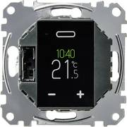 Raumthermostat Unterputz: Nach der Schraubbefestigung schließt das schwarze Touch-Display mit der Wand ab.