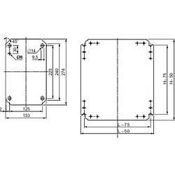 Montážna doska pozinkovaná ocel Schneider Electric NSYMM3025, (d x š) 300 mm x 250 mm